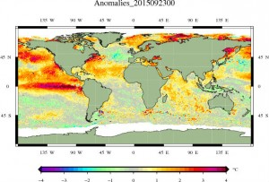 23 September 2015 - Global Sea Surface Temperature Anomaly